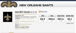 saints offense