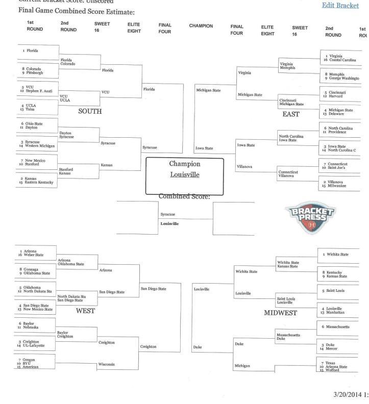 NCAA bracket 6