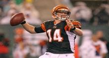 Cincinnati Bengals quarterback Andy Dalton throws a pass