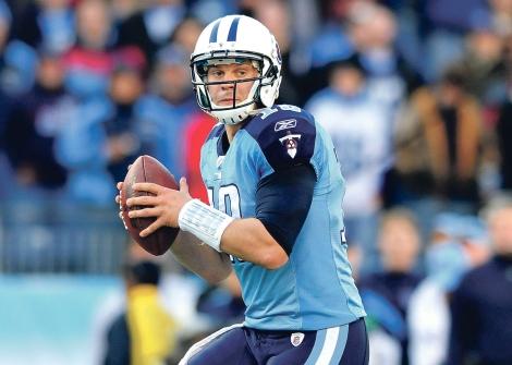 Titans quarterback Jake Locker