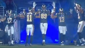 rams hands up